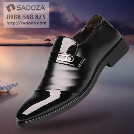 Giày nam lười cao cấp đen bóng sang trọng