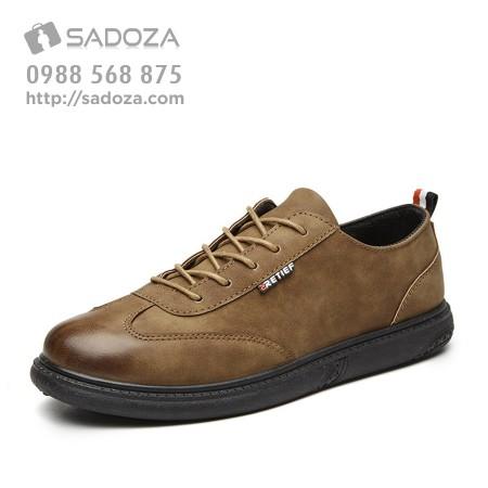 Giày da thể thao nam trẻ trung phong cách vintage