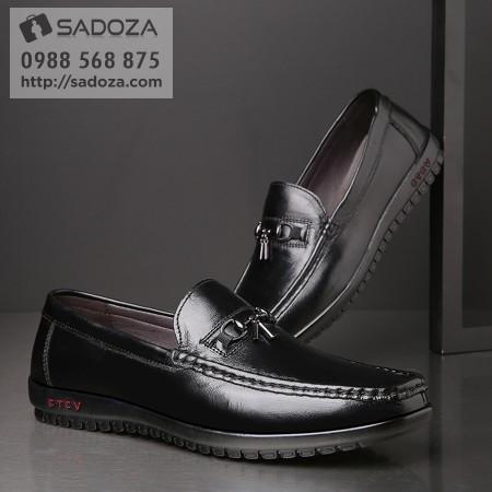 Giày lười nam da bò thật êm chân thoáng khí sành điệu