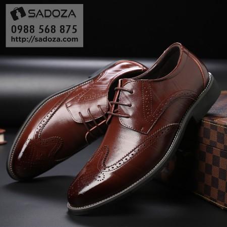 Giày nam cao cấp da bò thật phong cách Âu Mỹ lịch lãm